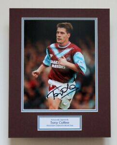 TONY-COTTEE-In-West-Ham-United-Shirt-HAND-SIGNED-Autograph-Photo-Mount-COA