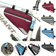 NEW Cycling Bike Bicycle Frame Pannier Front Tube Double-Saddle Bags EW