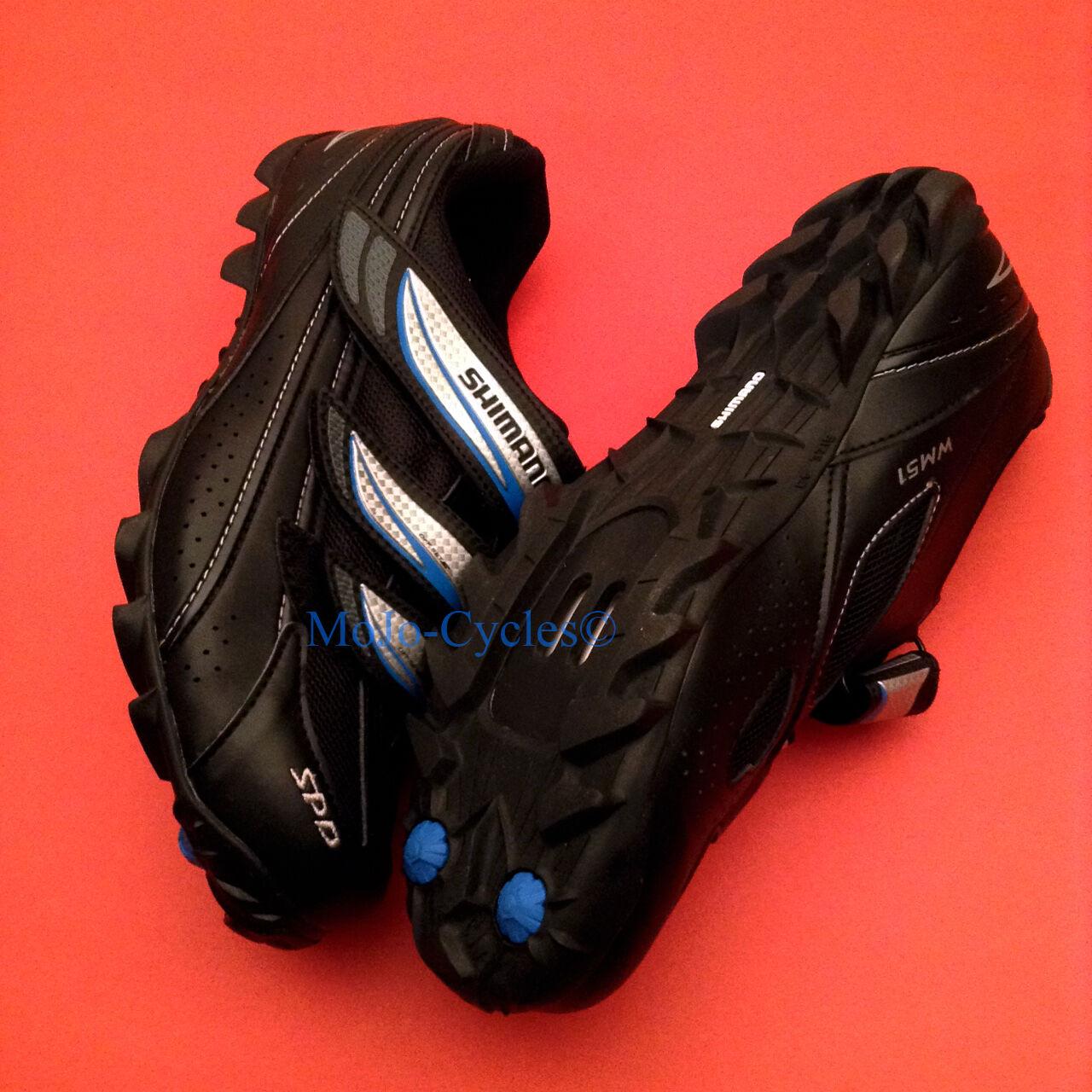 Shimano Donna WM51 scarpe US size 10.4 (10.5) EU 43 SPD Nuovo
