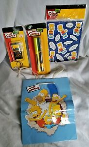 2007-The-Simpsons-Collection-Pens-Keychain-Bart-Magnets-and-Gift-Bag