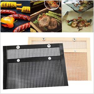 Outdoor-PTFE-Non-Stick-BBQ-Mesh-Grill-Bag-Reusable-Barbecue-Baking-Mat-Pad-Tools
