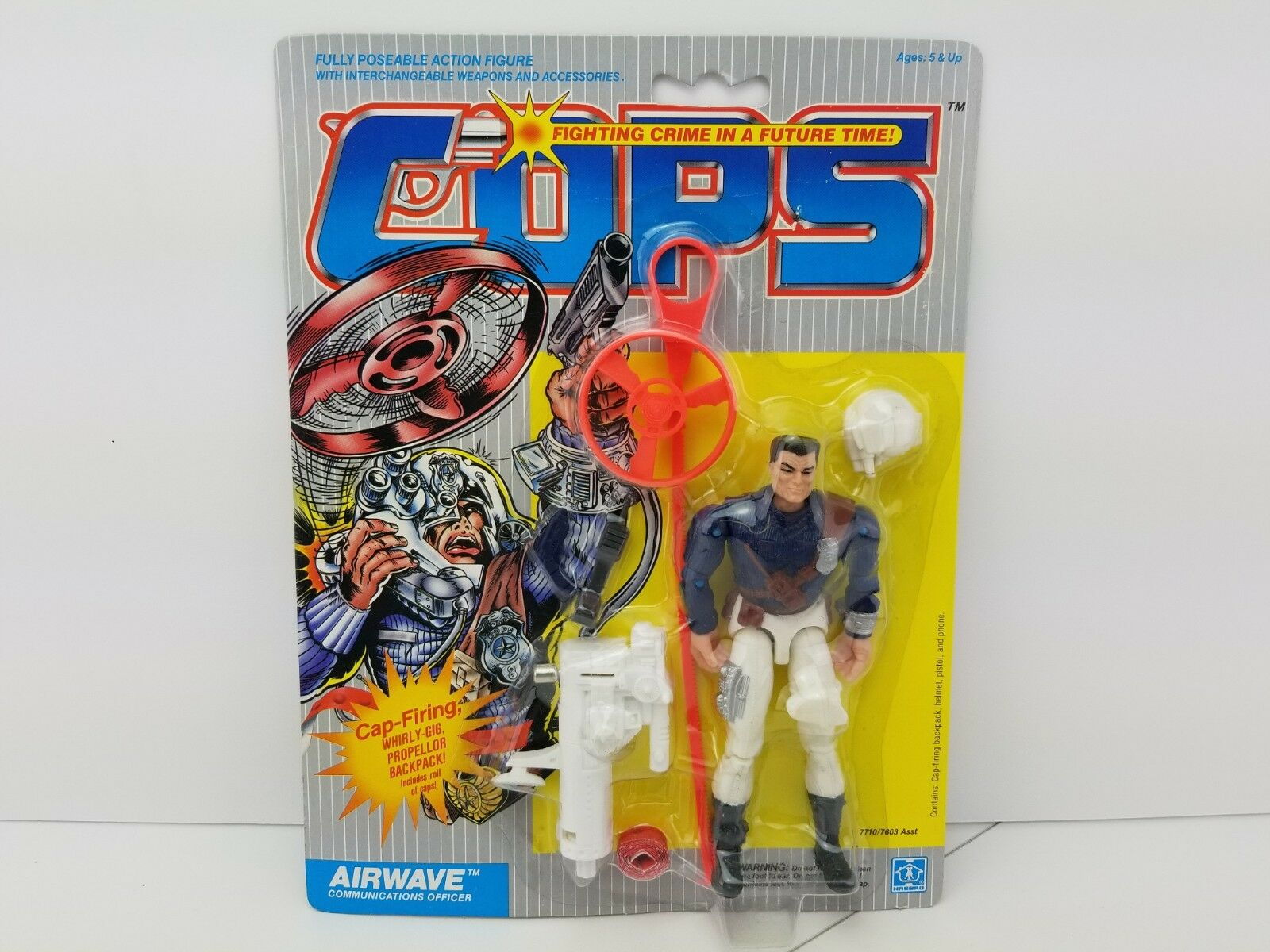 Cops N Crooks Airwave vintage Hasbro Moc 1988