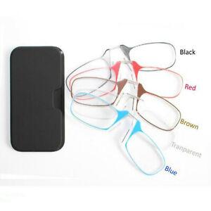 Lesebrille-lesebrillen-Unisex-Mini-Nasen-Clip-mit-Etui-Sehhilfe-Dioptrien-Brille