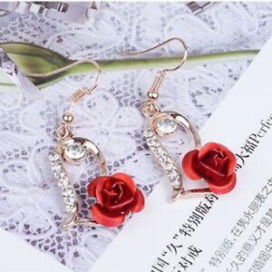 Fashion-Love-Women-Drop-Heart-Earrings-Rose-Crystal-Dangle