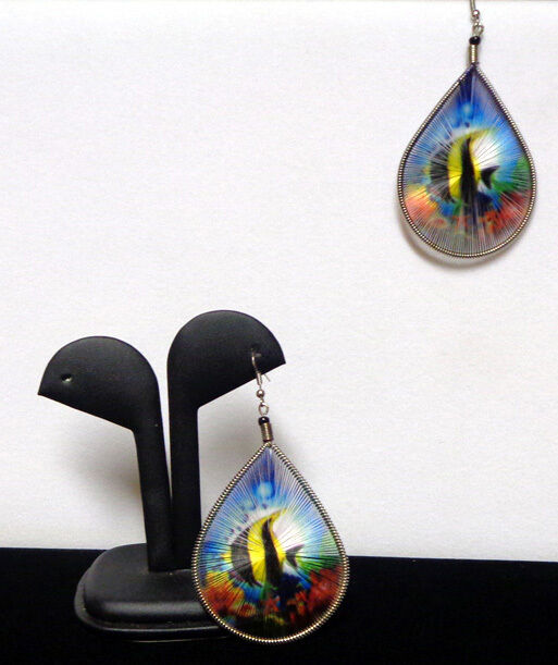 Tropical Fish Earrings Large Hand Crafted in Peru Multi