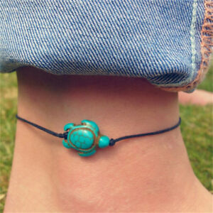 Women-Boho-Turquoise-Turtle-Ankle-Chain-Bracelet-Foot-Chain-Beach-Jewelr-In