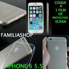 Coque rigide étui housse pochette transparente cristal iphone 6 PLUS 5.5 + Film