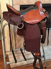 "17"" TN Saddlery Ultra lite, Endurance Western Brown Saddle Hornless"