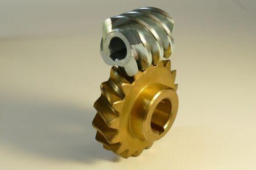 Schneckenrad-Satz Modul 3,5 4 gängig I= 4,25:1 Achsabstand 50 mm Stahl Bronze