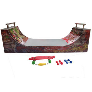 BEST DEAL 6/14 yrs Ramps for Finger Skates - HALFPIPE Ramp for Scooters