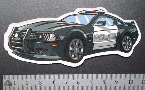 "Sticker autocollant /""POLICE CAR/"" Brillance-Optik Stickerbomb skateboard Ordinateur Portable"