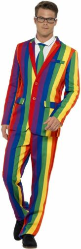 Mens Womens LGBT Gay Pride Fancy Dress Rainbow Costumes Mardi Gras Party Fun