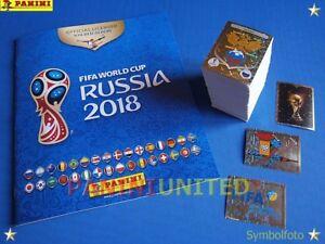 Panini-WM-2018-WC-18-World-Cup-complete-set-Komplettsatz-empty-album-Leeralbum