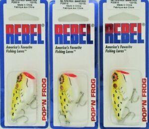 (3) Rebel Lures Topwater Pop'N Frog Bait Swamp Frog P20510 Brand New