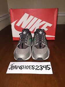 sports shoes 7ac9d 7bd6a Image is loading NIKE-AIR-HUARACHE-MINE-GREY-MIDNIGHT-FOG-POISON-