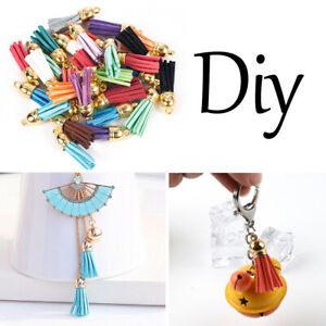 Wholesale-30Pcs-Suede-Leather-Tassel-Pendant-Charms-DIY-Keychain-Jewelry-Finding