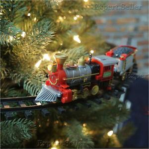 Christmas Tree Train Express Set Lights Sound Holiday ...