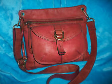 FOSSIL Sasha Rust Orange Leather Cross Body - MEDIUM SASHA