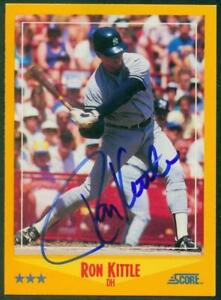 Original-Autograph-of-Ron-Kittle-of-the-NY-Yankees-on-a-1988-Score-Card