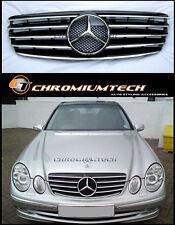 02-06 Mercedes W211 E-Class BLACK CHROME SPORTS GRILL AMG E55 E63 E240 E280 E350