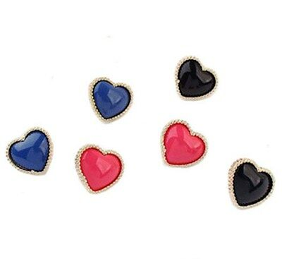 Fashion Women Heart Shaped Gold Edging Trendy Earrings Stud Valentine Gift UK