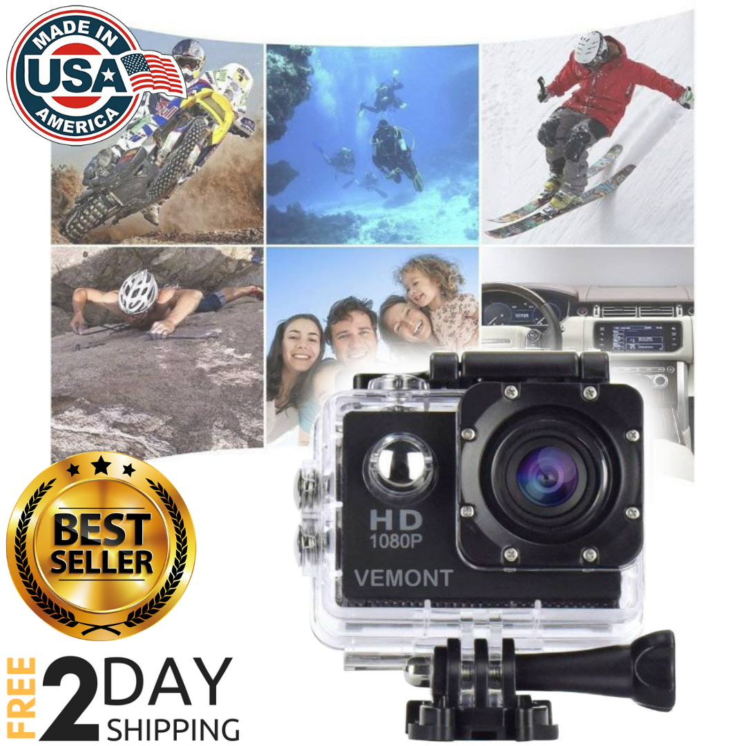 NEW 5 Action Gopro Hero Full HD 1080P Sports Waterproof,Camera 12MP 170 Degree Featured