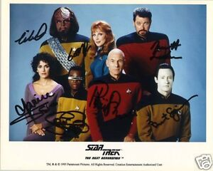Image Is Loading STAR TREK THE NEXT GENERATION CAST AUTOGRAPH SIGNED