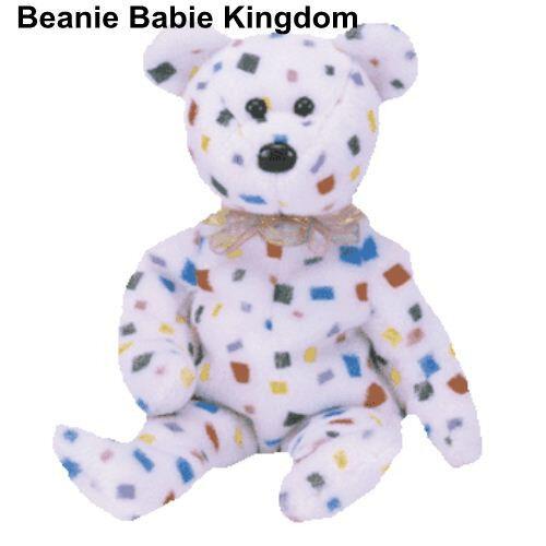 TY BEANIE BABIE * TY 2K * THE CONFETTI MILLENNIUM TEDDY BEAR