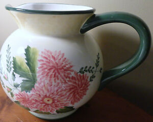 Image Is Loading WAVERLY GARDEN ROOM ROSEBERRY CHINA LARGE ROUND PITCHER