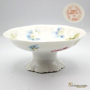 Antica-alzata-alzatina-in-porcellana-Ginori-centrotavola-piatto-fruttiera-fiori