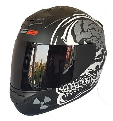 LS2 FF352 ROOKIE FULL FACE MOTORCYCLE CRASH HELMET GLOSS BLACK WITH DARK VISOR