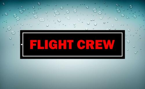 Sticker Sticker Car Aircraft Aviation Airport Flight Crew Crew