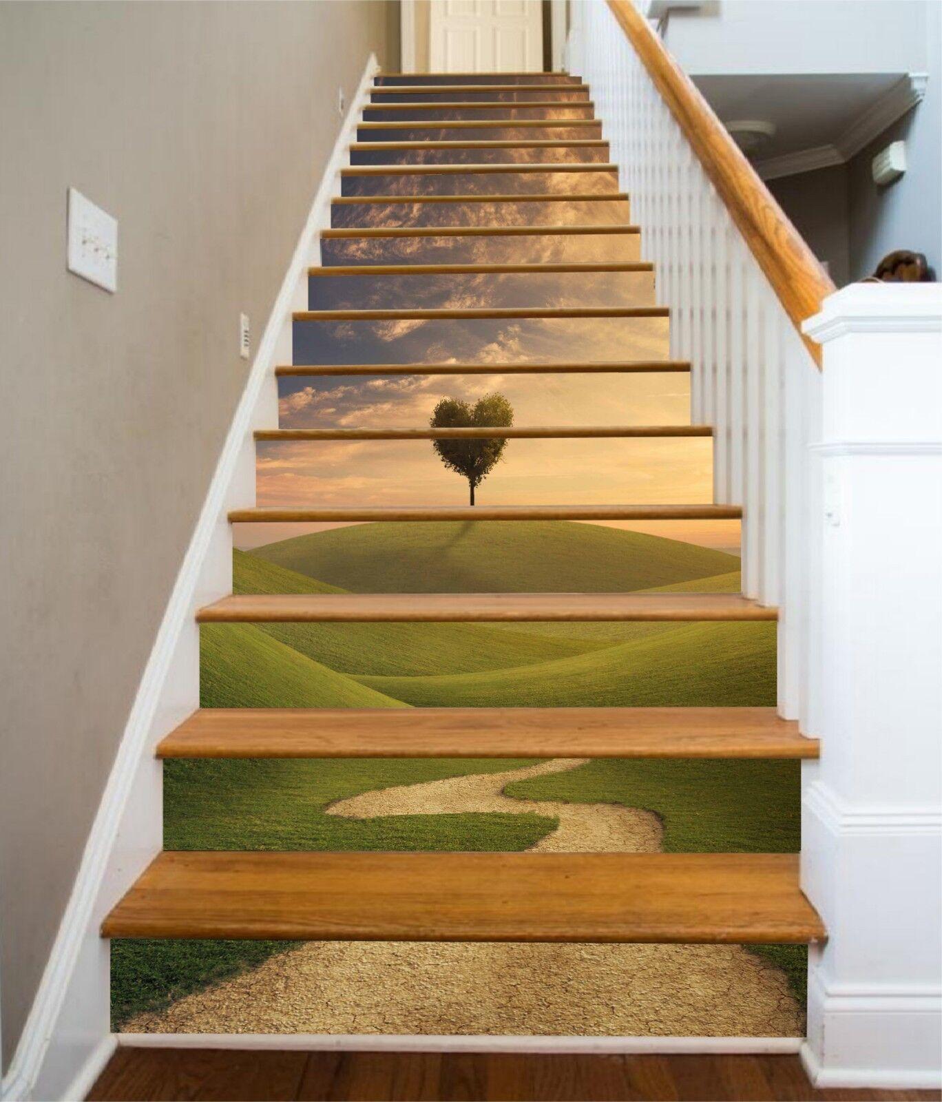 3D greenland-Baum 30 Stair Risers Dekoration Fototapete Vinyl Aufkleber Tapete DE