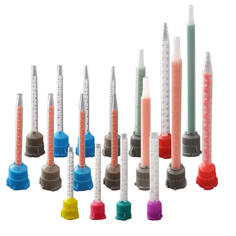 Paquete De 50 tubo de goma ab estática de tubo de mezclado Relleno Pegamento Tubo de mezclado de mezcla