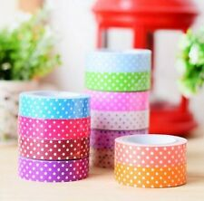 Set 12 Colorful Attractive Adhesive Paper Tapes Decorative Art Craft Projects