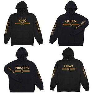 Adult-Youth-Hoodie-GOLDEN-Gucci-KING-QUEEN-PRINCE-PRINCESS-GANG-humor-S-5XL