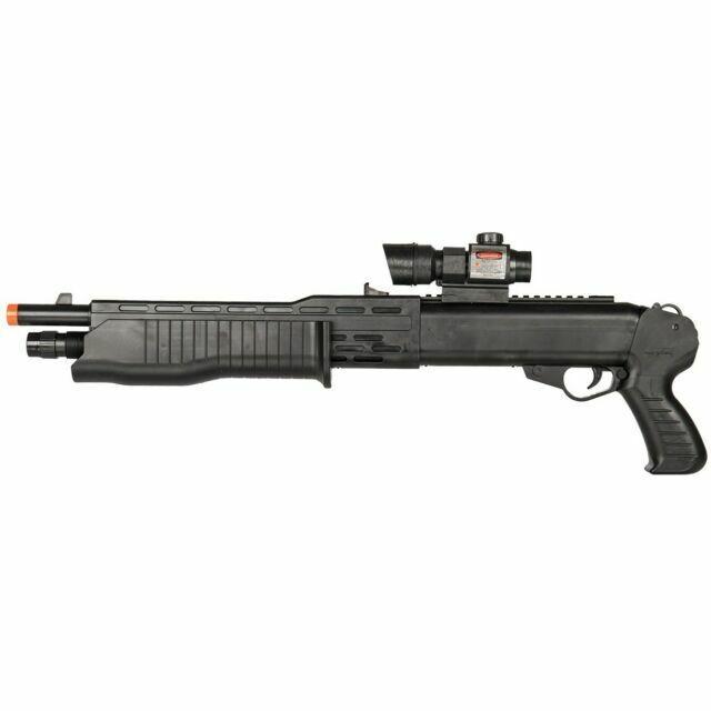 Uk Arms Spas 12 Airsoft Sawed Off Cqb Shotgun Spring Pump Action Laser Tactical For Sale Online Ebay