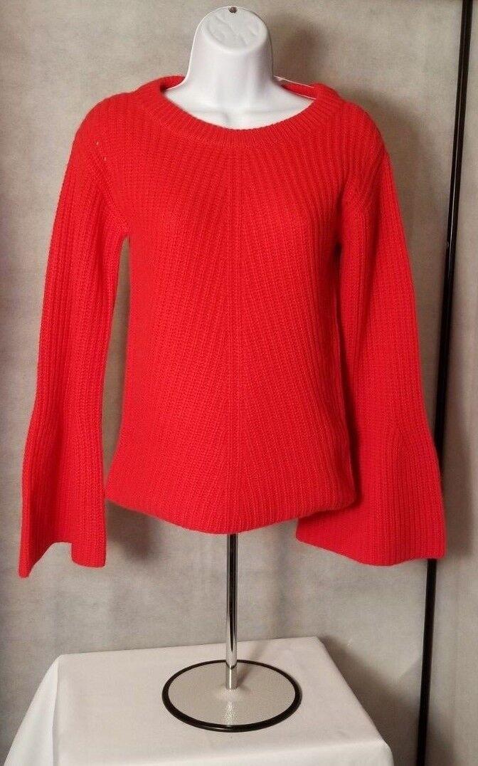 Calypso St Barth Womens Red Carmine Paltina Sweater 100% Cashmere XS MSRP