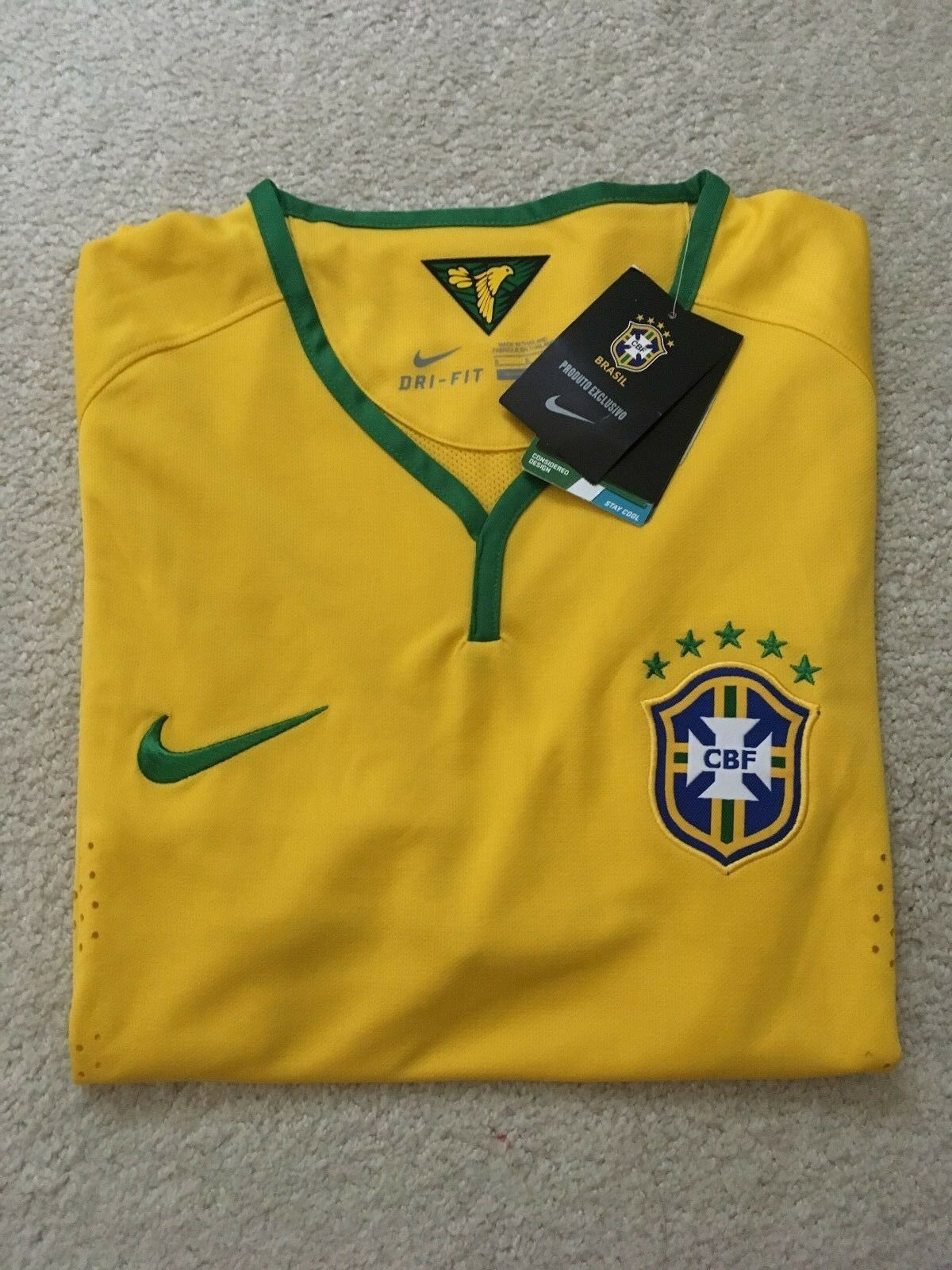 2014 WORLD CUP NIKE BRAZIL HOME JERSEY