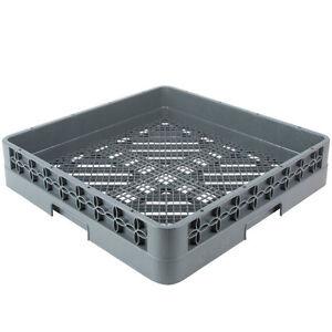 "NEW 19 3/4"" x 19 3/4"" x 4"" Full Size Gray Commercial Dish Machine Flatware Rack"