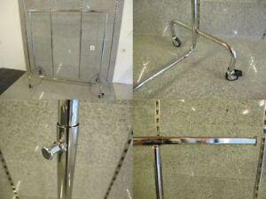 Rollstaender-Kleiderstaender-Rollstange-Industriestaender-hoehenverstellbar-chrom