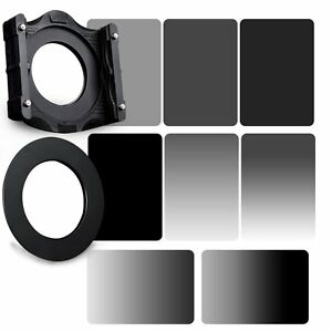 ZOMEI-4x6in-GND-grey-ND-2-4-8-16-ND-Filter-82mm-Ring-Holder-Kit-For-Cokin-Z