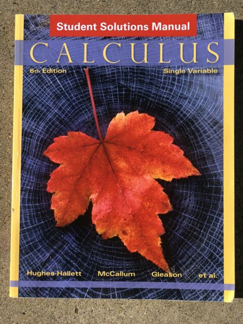 Hughes Hallett Calculus 6th Edition