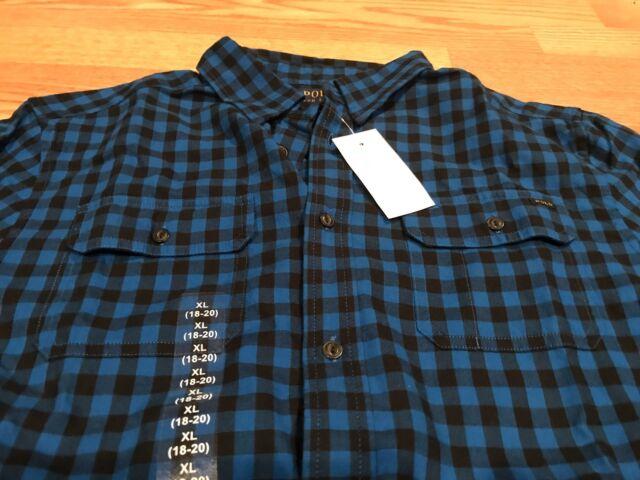 Ralph Lauren Boys Cotton Long Sleeve Gingham Shirt Pink Multi Sz S NWT 8