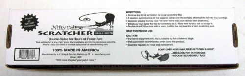 Eco Friendly Nifty Feline Scratcher Cat Scratcher Single Wide Made In USA