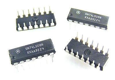 10X TI SN74LS08N LOGIC GATE,QUAD 2-INPUT AND,LS-TTL,DIP,14PIN