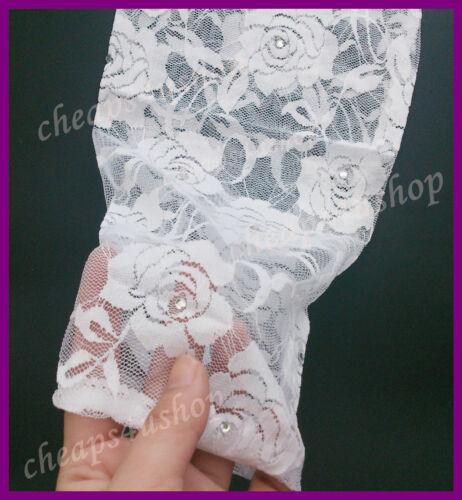 ※053※New 7-13Y = Girls DIAMANTE Lace ROSE Detail 3//4 Leggings White
