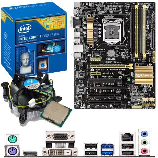 INTEL Core i7 4770K 3.5Ghz & ASUS Z87-K - Motherboard & CPU Bundle