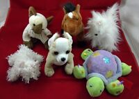 Webkinz Lot of 6 Plush Stuffed Animals 3 Dogs Turtle Cat Horse NO CODES Ganz