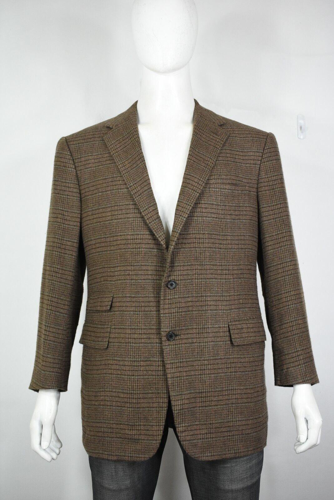 Ralph Lauren lila label cashmere blazer 44 R jacke check plaid braun